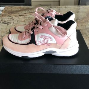 SOLD!!! ❗️CHANEL pink and white trainers